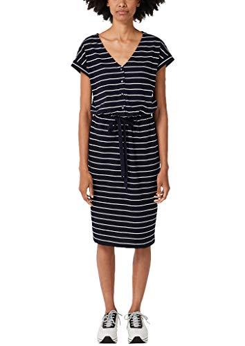 s.Oliver Damen 21.906.82.7538 Kleid, Blau (Navy Stripes 59g0), (Herstellergröße: 34)