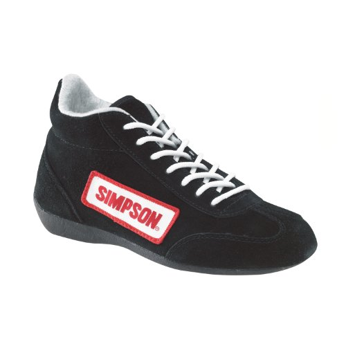 Simpson Racing 27750BK The Lowtop Black Size 7-1/2 SFI Approved Driving Shoes :