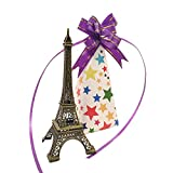 Whopper 6.5 Inch Eiffel Tower Decor Metal Paris Eiffel Tower Statue Figurine Replica, Jewelry Stand Holder for Cake Topper, Gifts, Party and Home Decoration with Gift Wrap