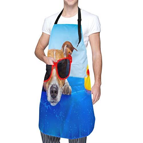 Verstellbarer Hals Hängen Personalisierte Wasserdichte Schürze,Jack Russell Hund...