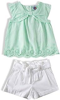 Conjunto Shorts e batinha, Tip Top, Meninas, Verde Agua, 1T