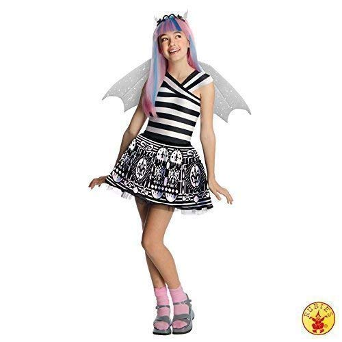 Lively Moments Edles Kostüm Monster High Rochelle Goyle mit Perücke Kleid Gr. M = 116 - 128