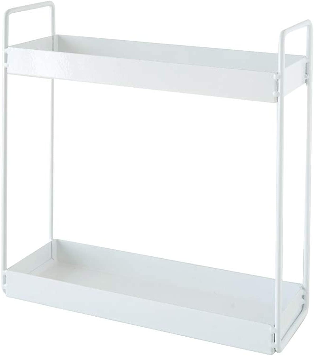 Desktop Sundries Storage Rack Nordic Style, Bathroom Desktop Wrought Iron Shelf, Kitchen Living Room Shelves 3.9 7.87 Inch (color   White, Size   10cm)