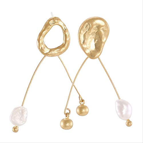 Ohrringe Frau Retro Natürlichen Süßwasserperlen Temperament Legierung Ohrringe [Damen Temperament Perlen Ohrringe Serie]Silber Nadel Eh00831A