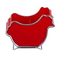 KEKEYANG 台所収納 キッチンの棚304ステンレス鋼カトラリーラックlixin(カラー:RED、サイズ:21.5 * 18センチメートル)(カラー:レッド、サイズ:21.5 * 18センチメートル) 収納
