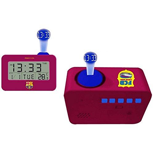 CHRISTIAN GAR Barcelona C.F. 3002180 - Reloj Despertador Digital con Proyector y Temperatura. Color Granate