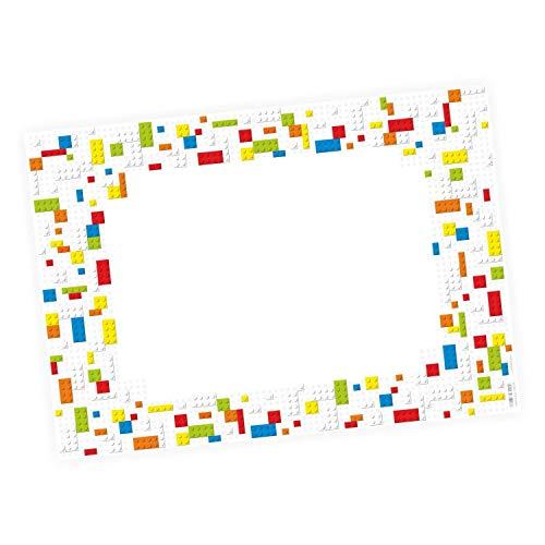 Niños vade Lego piedras *–25hojas de papel para abreißen, A2Bringmann–Carpetas de plástico–Mosaico de ladrillos–Regalo de cumpleaños o material escolar