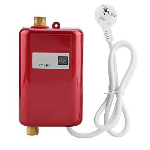 Mini Chauffe-Eau sans réservoir, 220V 3800W Mini Chauffe-Eau instantané électrique sans Salle de Bains Cuisine Cuisine Chauffe-Eau Chauffe-Eau instantané(Rouge)