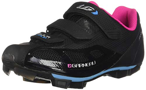 Louis Garneau, Women's Multi Air Flex Bike Shoes for Indoor Cycling, Commuting and MTB, SPD Cleats Compatible with MTB Pedals, Black/Pink, US (11), EU (42)