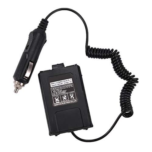 Fransande - Eliminador de batería y cargador de coche para radio portátil UV-5R UV-5RE UV-5RA accesorios de Walkie de radio bidireccional