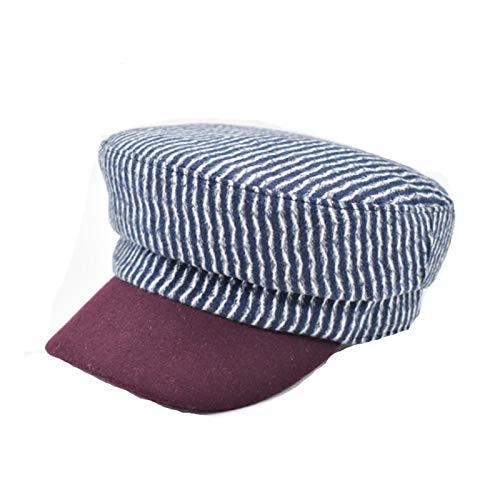 BGROESTWB Boinas para Mujer Caliente de Las Lanas del Sombrero for el otoño y del Invierno de Corea Tendencia de la Moda Todo-Pot Sombrero de la Boina Sombrero Militar para Chicas