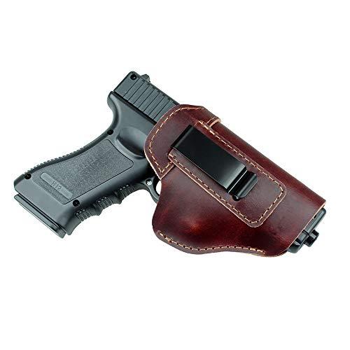 Gexgune Jagdholster Pistolenhalfter aus Leder für Glock 17 19 21 23 26 Beretta 92 Sig Sauer P226 SP2022 Taktische verborgene IWB (Braun)