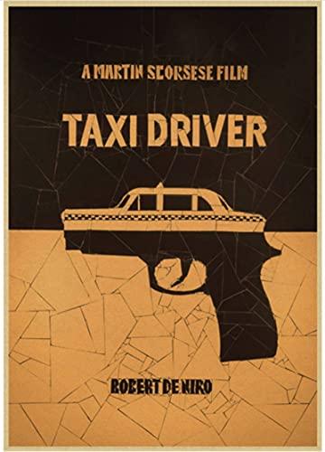 XIAOPINGZI Toile Décoration Affiche Taxi Driver Movie Poster Antique Print Peinture Salon Chambre Vintage Wall Sticker50 * 70 Cm De Haute Qualité Et Durable