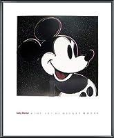 ポスター アンディ ウォーホル The Art Of Mickey Mouse 額装品 アルミ製ベーシックフレーム(ブラック)
