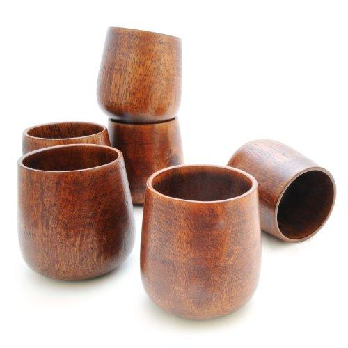 Ganzoo - Vaso de madera (150 ml de capacidad, de madera sostenible,...