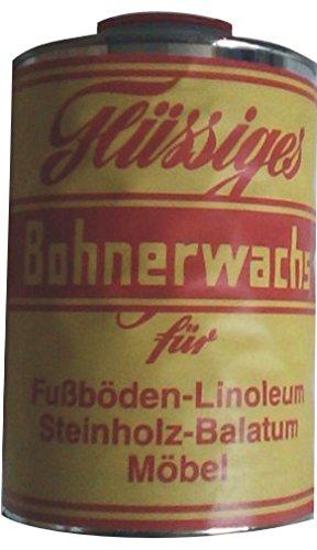 Bohnerwachs flüssiger Bohnerwachs für Fußböden-Linoleum Steinholz-Balatum Möbel 1 Liter