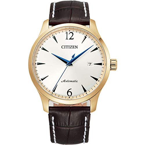Reloj de Ciudadano, Solo de Tiempo Clsico Automtico de la Correa de Cuero marrn NJ0118-16A