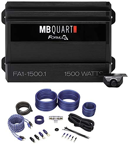 MB QUART FA1-1500.1 1500 Watt Mono Amplifier Car Audio 1-Ohm Class-D+Amp Kit