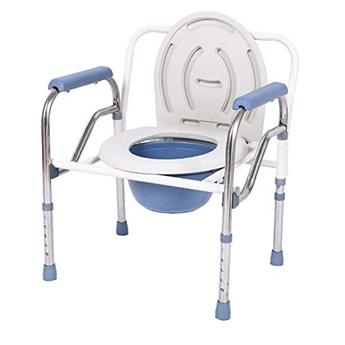 New ZWJ-Shower Chair Toilet Safety Support Frame, Adjustable Commode Chair Toilet Safety Frame, Remo...