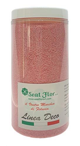 Deco – Sable naturel coloré hypoallergénique et non toxique – Couleurs vives – 0,5 mm – Vendu en pot de 550 ml/750 g – Fabriqué en Italie rose