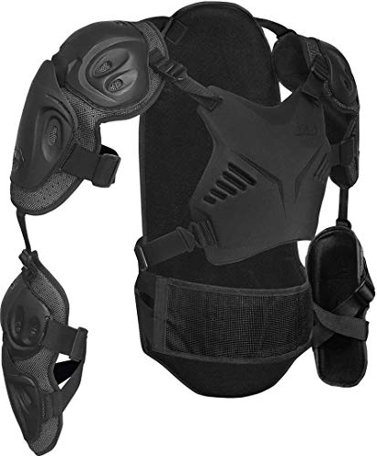 IXS Assault Evo Upper Protective Gilet Dorsale VTT/BMX Mixte Adulte, Noir, ML
