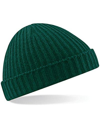 Beechfield Beanie-Mütze Unisex Retro-Fischer-Design, grün, B460