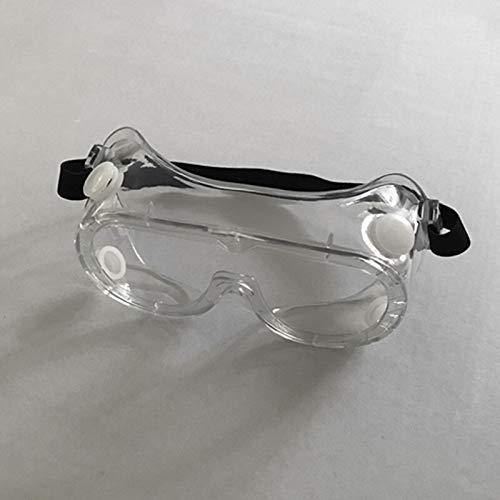 N-A Gafas Transparentes de Seguridad Transparentes Gafas contra Salpicaduras Anti-químicas Polvo de Arena Gafas de protección Anti-ácido Puede Llevar Gafas Gafas a Prueba de Polvo y Niebla