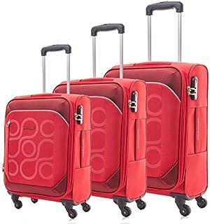 كاميليانت حقائب سفر بعجلات للجنسين 3 قطع - احمر