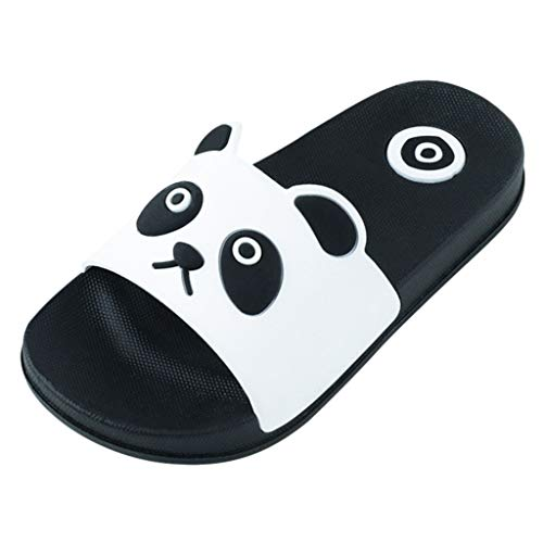 Bluestercool Tongs Mixte Enfant, Été Sandales de Plage Bébé Enfants Filles Garçons Pantoufles Charmant Panda Imprimé Chaussons Chaussures Plates