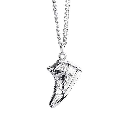JordanAj1 BallShoes Collar Hombres Y Mujeres Personalidad De La Marca DeModaConjunta Colgante De Acero De Titanio Colgante Hip Hop Cien Accesorios A Juego