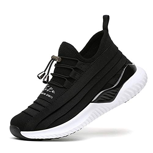 WETIKE Kids Shoes Boys Girls Sneakers Lightweight Tennis Sports Shoes Slip On Athletic Running Walking Shoes School Casual Trainer Socks Shoes Fashion Soft Black Size 3