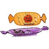 com-four® 3X Snackschale Halloween - Snack-Teller aus Kunststoff im Bonbon-Design - Party-Geschirr für Halloween und Motto-Party - 3