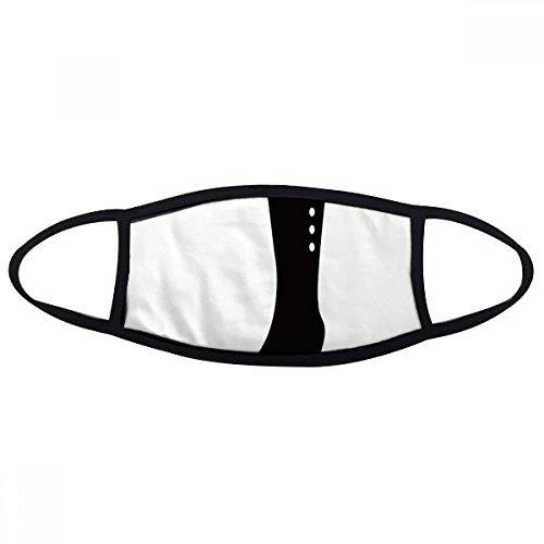 DIYthinker Eenvoudige Graphics Zwart Hoge Laarzen Silhouette Mond Gezicht Anti-stof Masker Anti Koud Warm Wasbaar Katoen Gift