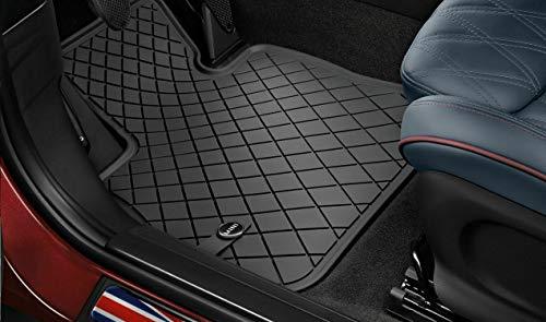 Mini LHD Essential Black Tapis de sol en caoutchouc Mini d'origine pour toutes saisons- Noir- Tapis avant pour Mini F55/F56