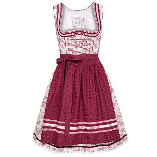 MarJo Trachten Damen Trachten-Mode Mini Dirndl Bomilla in Creme traditionell, Größe:38, Farbe:Creme