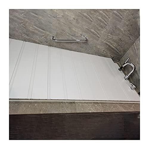 XnZLXS Badezimmer Tablett Badewannenbrett Badewannenabdeckung Anti-Staub Faltbares Staubbrett Badewannenisolierungsabdeckung PVC