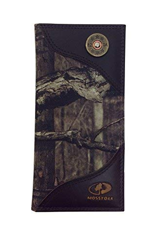 Mossy Oak Nylon Long Roper Secretary Wallet With Leather Trim And Shot