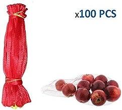 jenifer2015 Reusable Produce Single Drawstring Mesh Bag / Plastic Mesh Produce and Seafood, 24