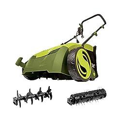 "top rated Sun Joe AJ801E Electric Scarifire 13 ""12A + Lawn Mower with Dust Bag Green 2021"