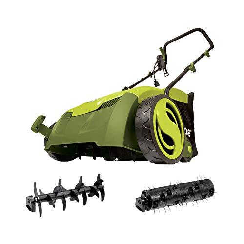 Sun Joe AJ801E 13 in. 12 Amp Electric Scarifier + Lawn Dethatcher w/Collection Bag
