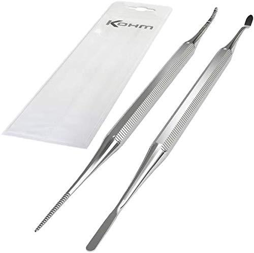 Kohm KP-7100 Fußpflege-Set für eingewachsene Zehennägel mit Feile und Werkzeug zum Anheben, Hochwertiger Edelstahl.