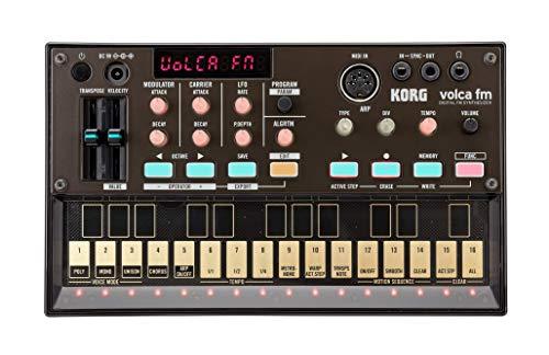 KORG volca FM Synthesizer, polyphoner Digitalsynthesizer mit FM-Klangerzeugung, schwarz