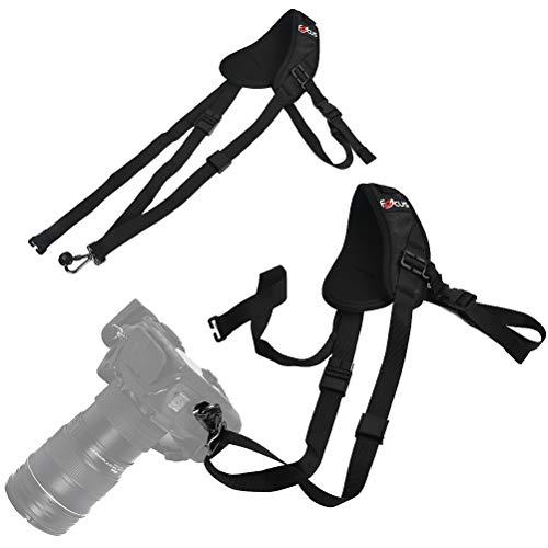 Correa de hombro antideslizante de neopreno para cámara con correa de hombro ajustable, correa para cámara réflex digital compatible con Canon, Nikon, Pentax, Sony