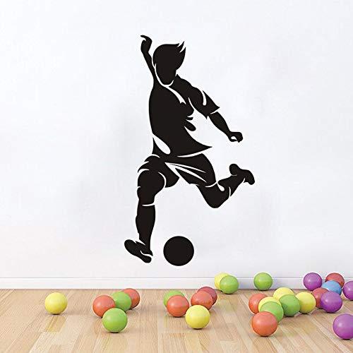 hetingyue Hot Sports voetbalspeler muurstickers, afneembaar, voor jongens en kinderen, vinyl, decoratie