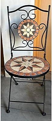 461c63187f407 BAGNO ITALIA Ameublement pour extérieur Set de Jardin Table avec mosaïque  carré 4 chaises