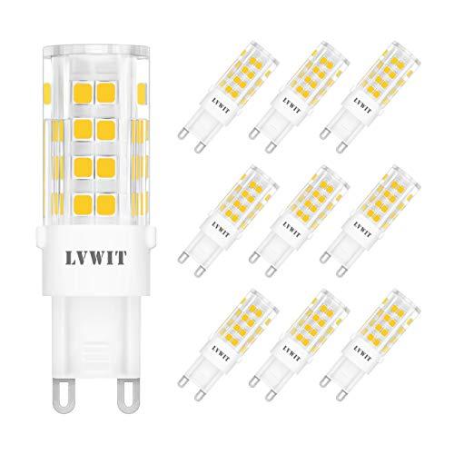 LVWIT Lampadine LED G9-3.5W Equivalenti a 40W, 400 Lumen, 3000K Colore Neutro Bianco, Nessun Lampeggio. Non Dimmerabile - Confezione da 5 Pezzi.