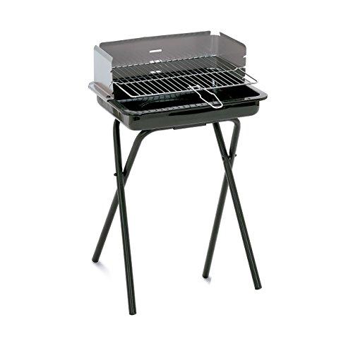 Algon AB64 Barbacoa, 45 x 34 x 62 cm de Altura, Acero esmaltado, Color Negro