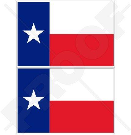 Texas Drapeau Texan State USA Amérique 10,2 cm (100 mm) en vinyle Bumper Stickers, Stickers x2