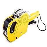 Winnes JU5500EOS Etikettiergerät für Preise, mit 1 Rolle Etiketten und 1 Tintenpatrone, Etiketten Selbstklebend, für Den Handel One Size Gelb