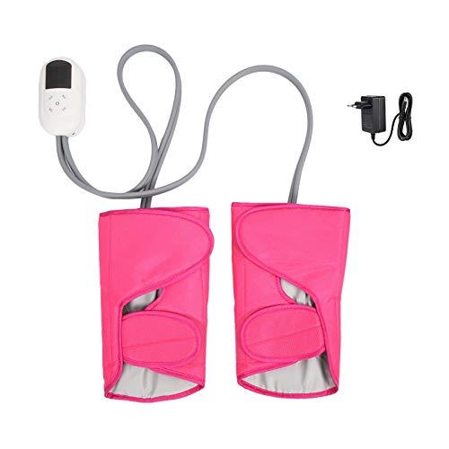 Masajeador de piernas eléctrico, masajeadores masajeadores de pies con controlador de mano 5 marchas temperatura presión de aire compresión caliente cinturón de masaje de piernas máquina doméstica 100